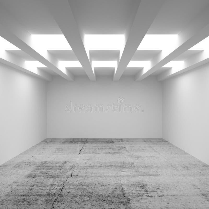 3d architektury abstrakcjonistyczny tło. Pusty izbowy wnętrze ilustracji
