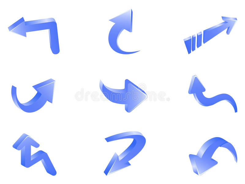 Download 3d arrows stock vector. Illustration of graphic, direction - 31534016