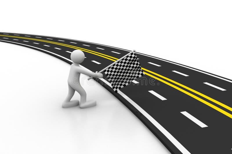 3d asfaltująca droga royalty ilustracja