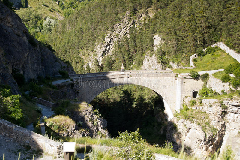 D'Asfeld de Pont, Francia foto de archivo