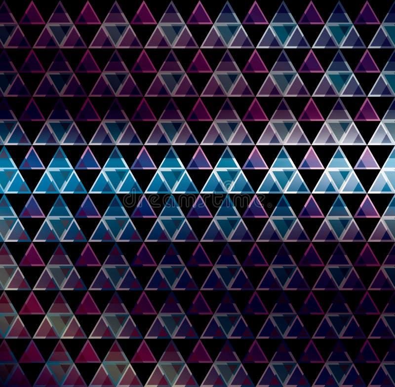 3d astratti geometricbroken le linee fondo moderno di vetro di vettore di lerciume illustrazione vettoriale