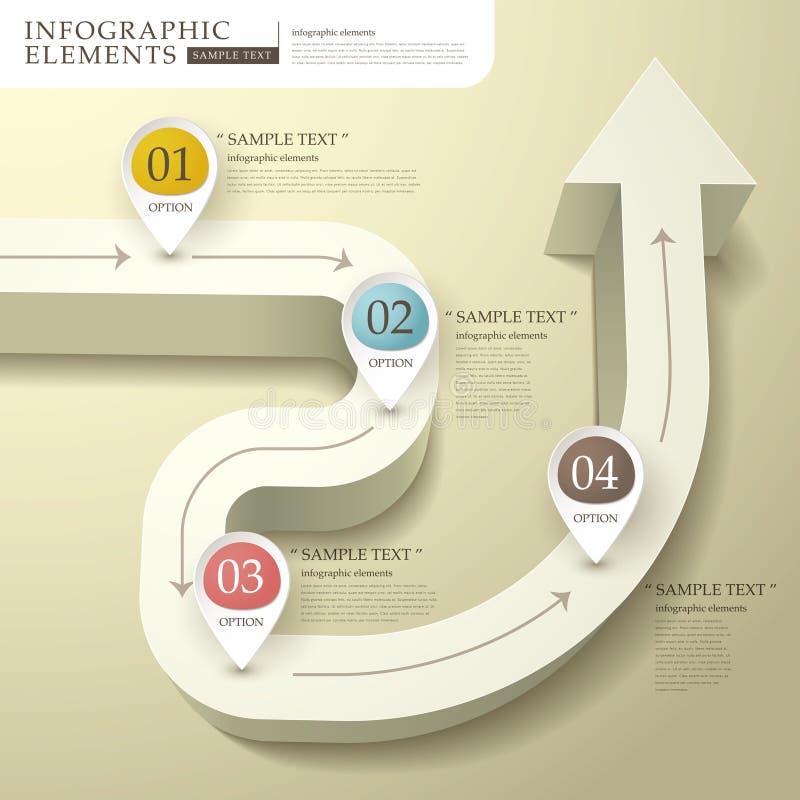 3d astratti infographics del diagramma di flusso illustrazione vettoriale