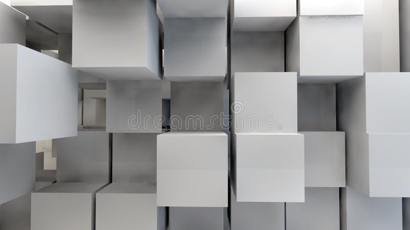 3d astratto cuba il labirinto immagine stock libera da diritti