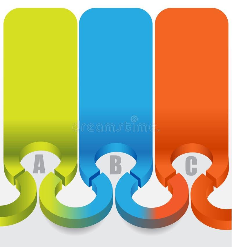 3d astratto identifica il fondo con i punti di ABC di colore royalty illustrazione gratis