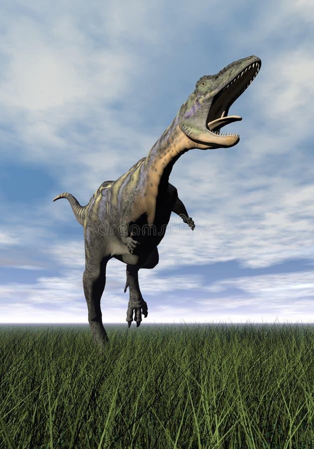 3D Aucasaurusdinosaurus - geef terug vector illustratie