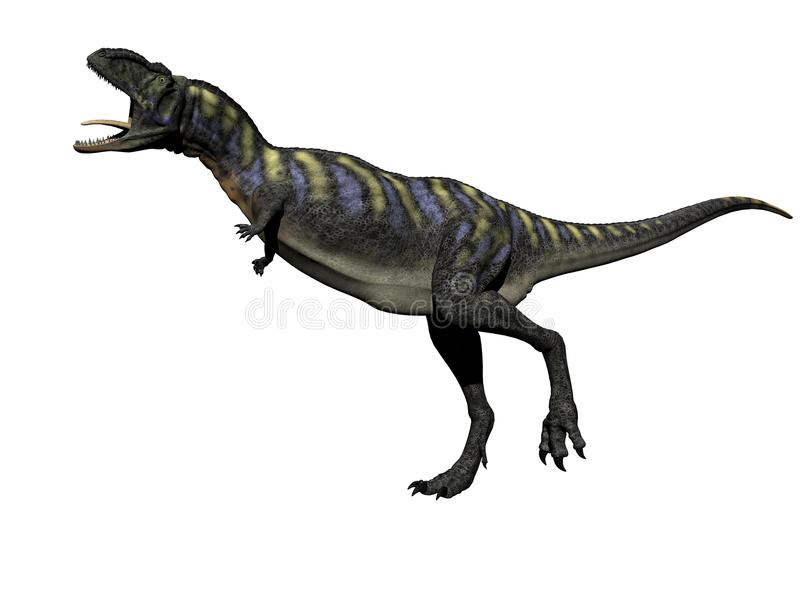 3D Aucasaurusdinosaurus - geef terug royalty-vrije illustratie