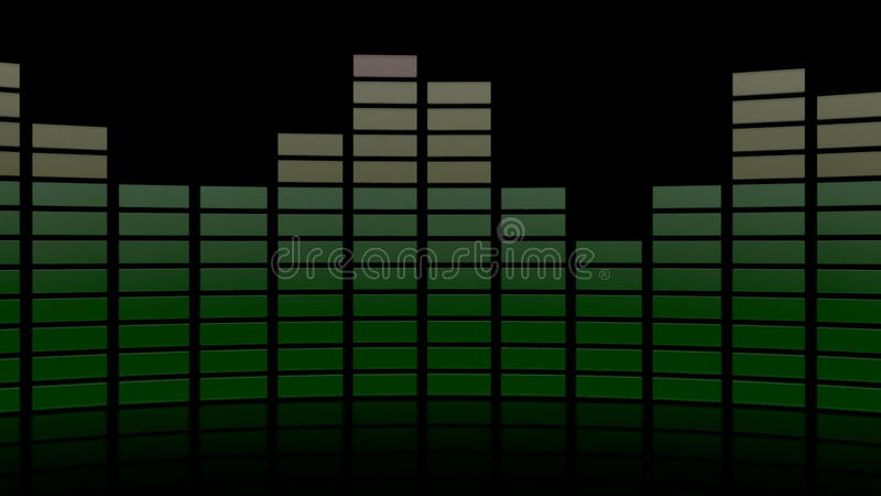 3d audio grafisch weerspiegelend niveau stock illustratie