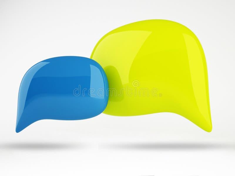 3D av designen för färganförandebubblor stock illustrationer
