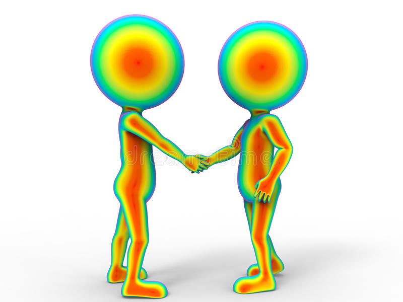 3D avatars - agitação da mão ilustração stock