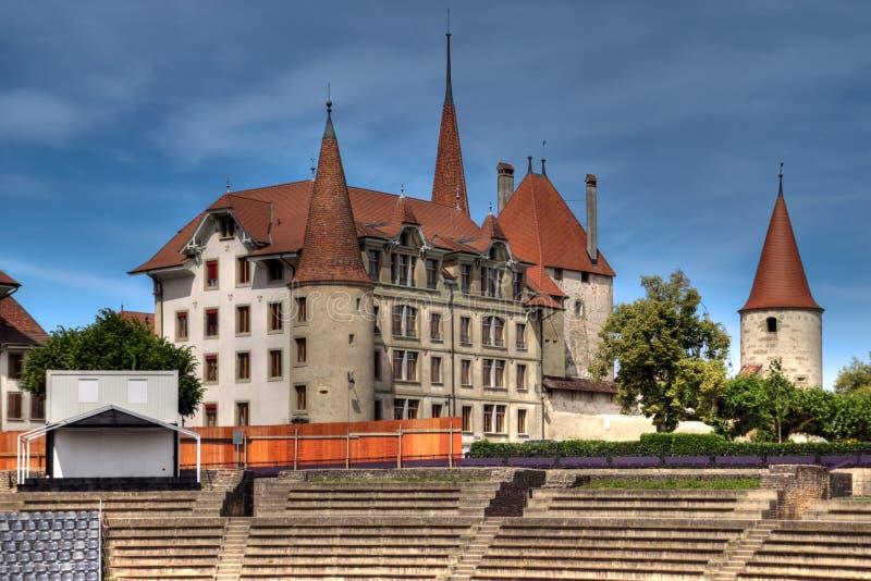 d'Avenches in HDR, Svizzera del chateau fotografie stock libere da diritti