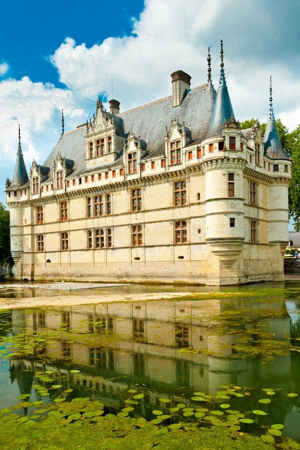 D Azay-Le-Rideau do castelo fotografia de stock