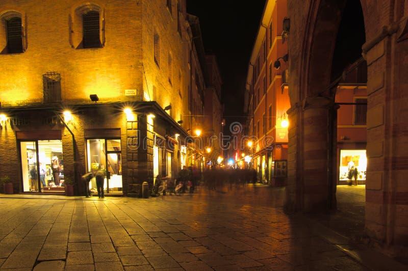 D'azeglio Straße, Bologna stockbild