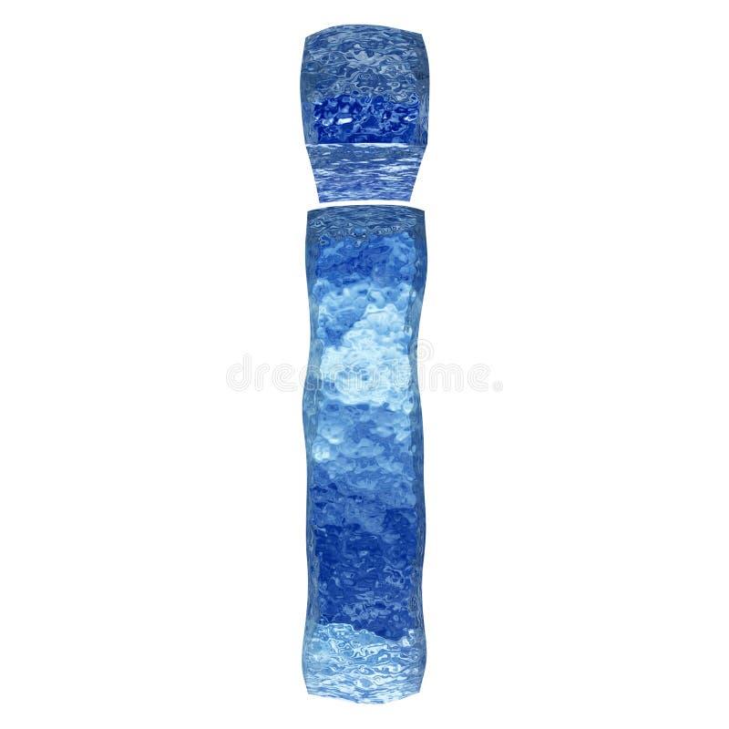3D błękitne wody lub lodu chrzcielnica royalty ilustracja