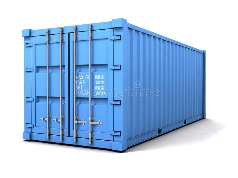 Download 3d Błękitny Frachtowy Zbiornik Ilustracji - Ilustracja złożonej z deliveryman, port: 41955535