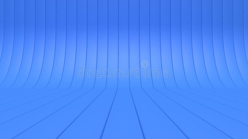 3d background floor-wall ground curve line-studio concept 3d rendering royalty free illustration