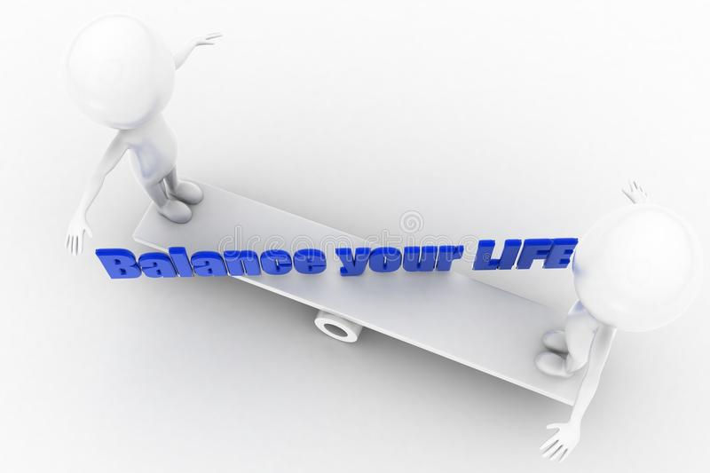 Download 3d balance your life stock illustration. Illustration of balance - 41754906