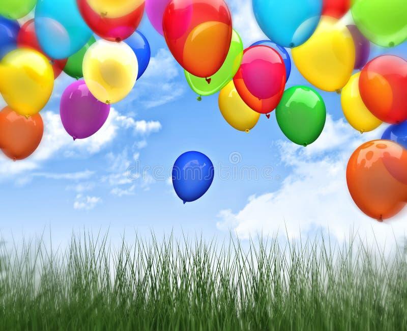 3d balloon royalty free illustration