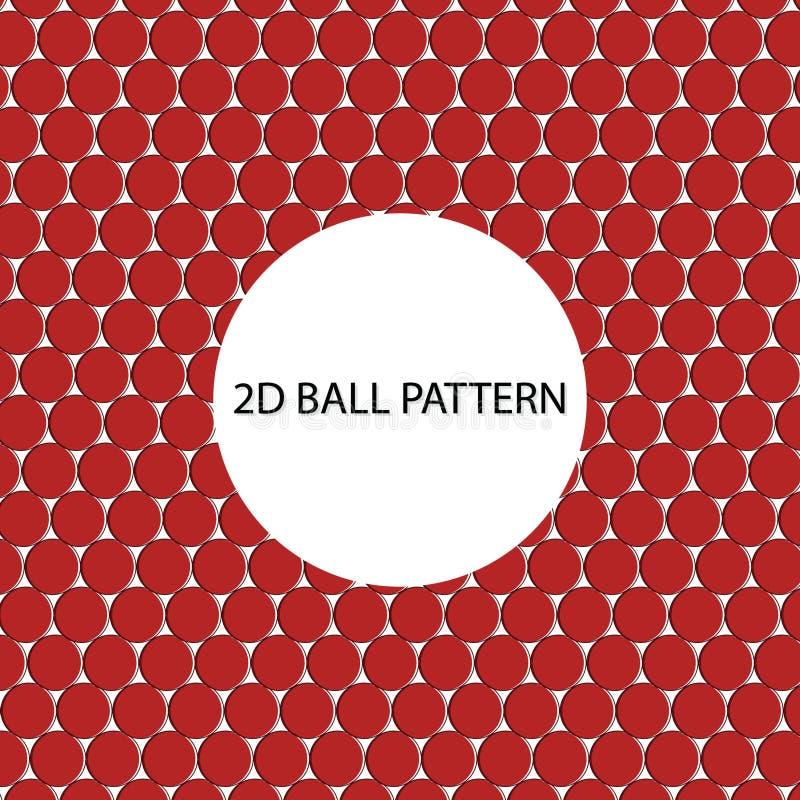 2D Balpatroon royalty-vrije stock foto