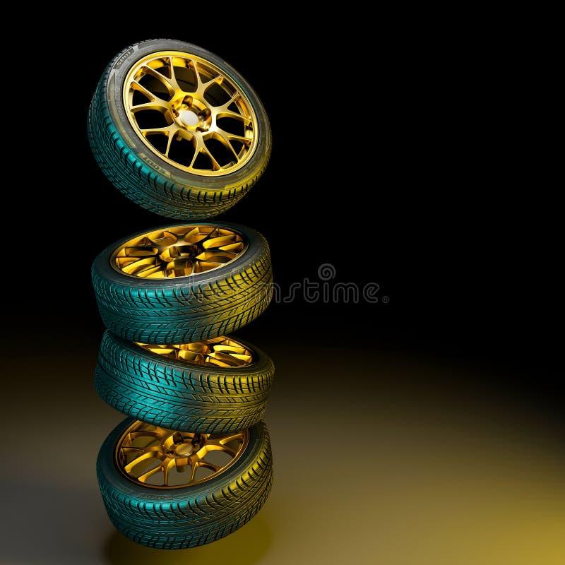 3d banden met gouden randen royalty-vrije illustratie