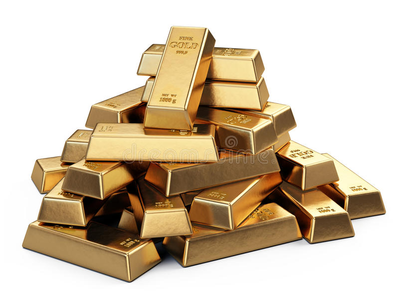 3d barów złota hq odpłaca się odpłacać się ilustracji