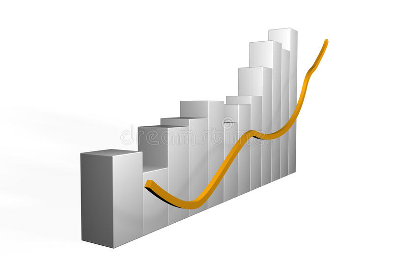 Download 3d Bar Graph With Undulating Performance Stock Illustration - Image: 31999934