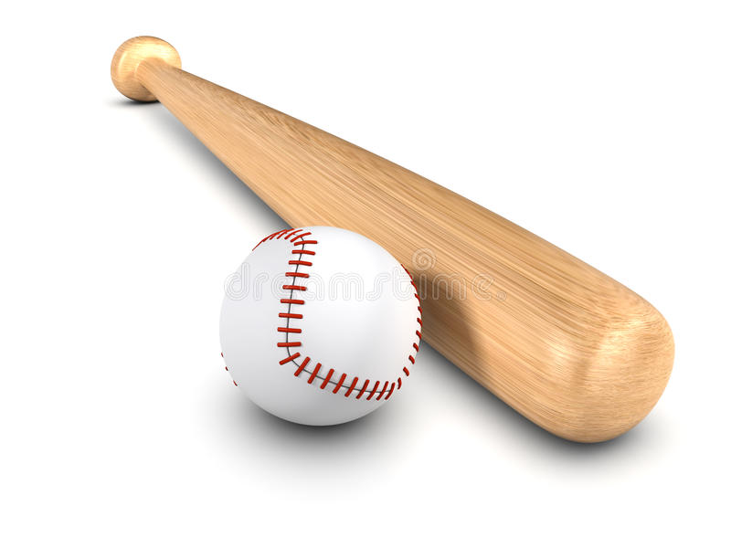 3d Baseball bat and ball stock illustration. Illustration ...