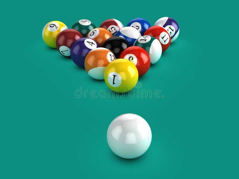 3d basenu piłki i biała piłka ilustracja wektor