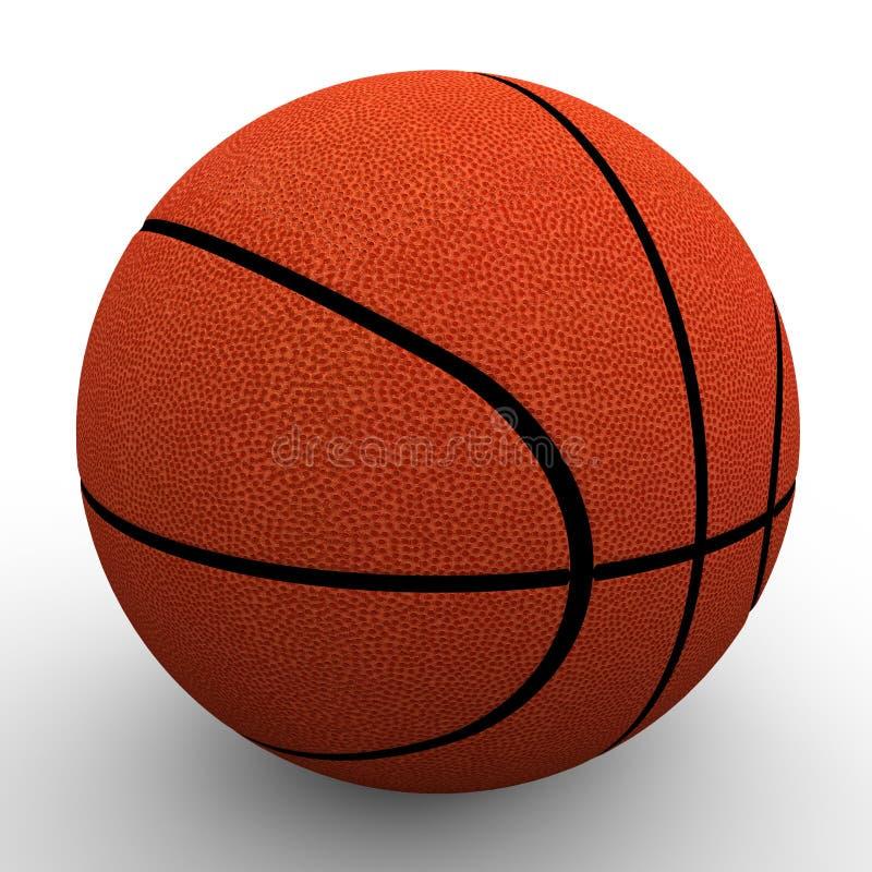 3d beeld De bal van het basketbal royalty-vrije illustratie