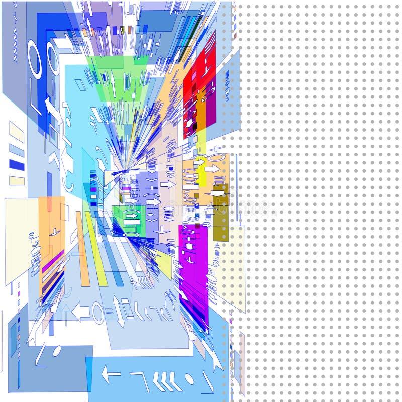 3D beeld van gekleurde geometrische vormen stock illustratie