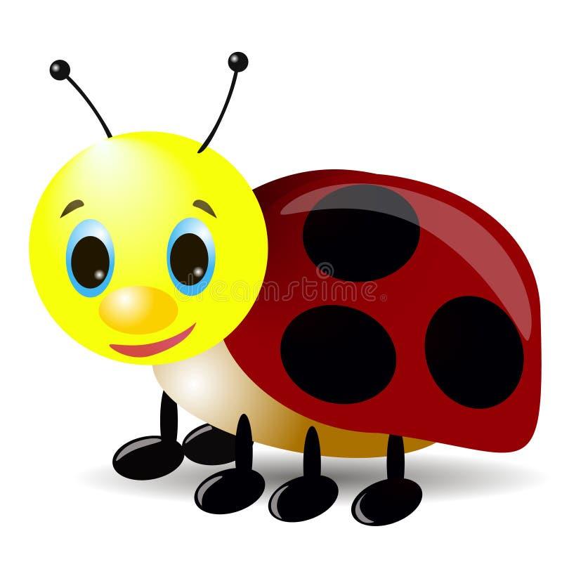 3d beeldverhaal lladybug stock fotografie