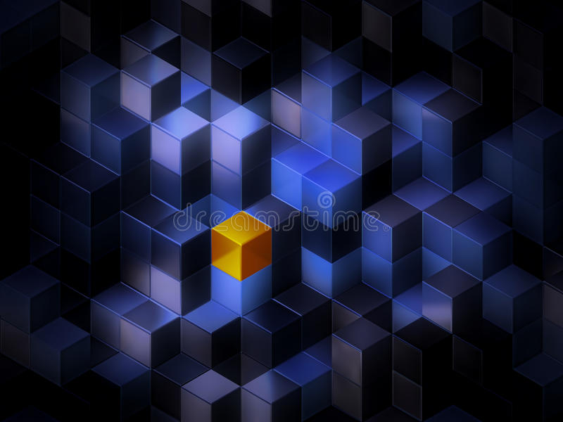 3d berechnet des abstrakten Hintergrundes lizenzfreie abbildung
