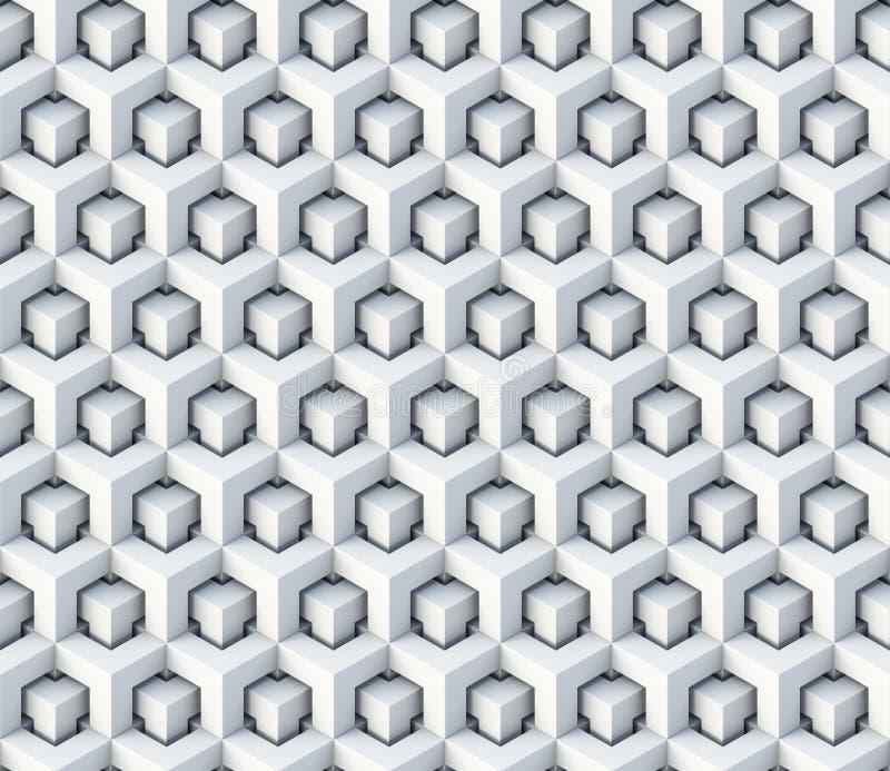 3d berechnet nahtlosen Musterverzierung lizenzfreie abbildung