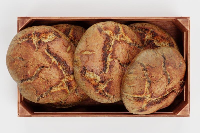 3d ?bertragen von den Broten im Kasten lizenzfreie abbildung