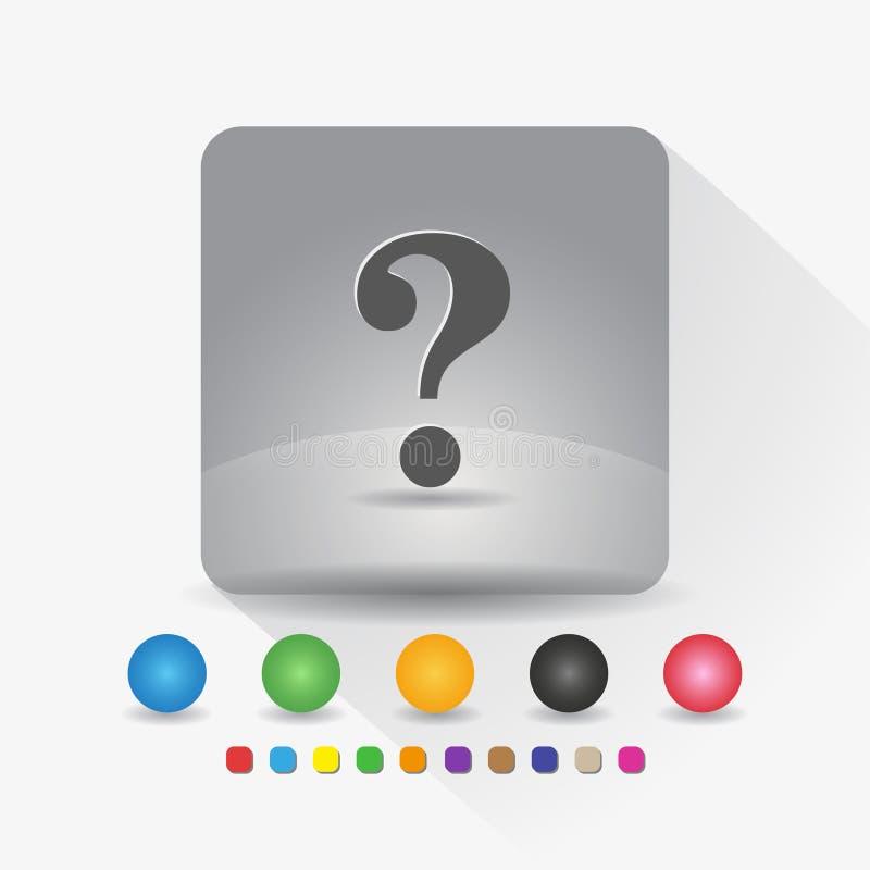 3D ?bertragen Zeichensymbol App in der runden Ecke der grauen quadratischen Form mit langer Schattenvektorillustration und Farbsc vektor abbildung