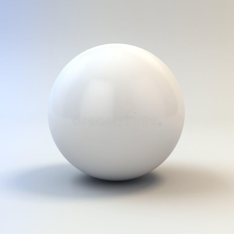 3d biała glansowana sfera royalty ilustracja
