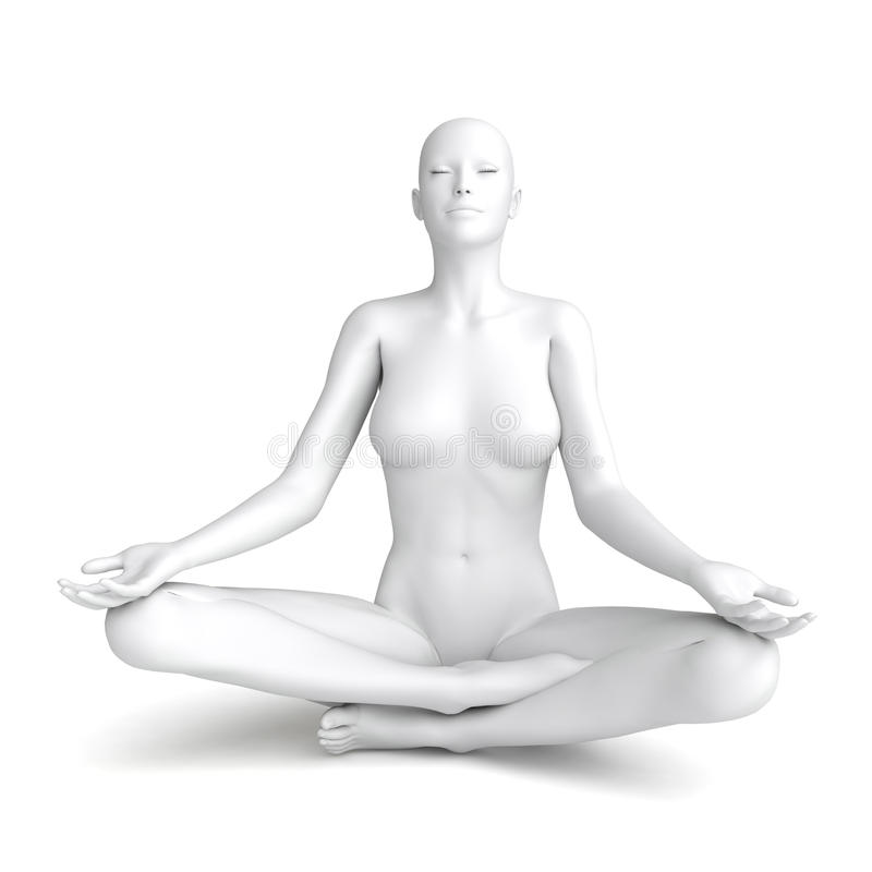 3D białej kobiety model royalty ilustracja
