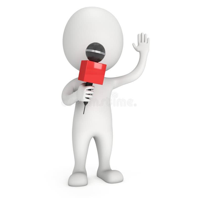 3d biały człowiek gości przedstawienie ilustracja wektor