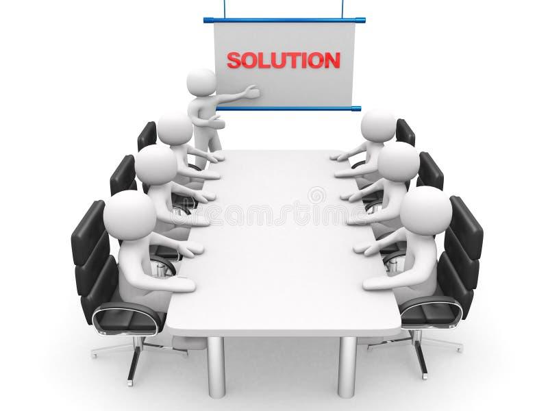3d biali biznesowi persons przy warsztatem prezentacja obrazy stock