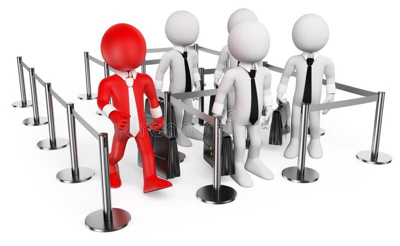 3D biali ludzie. VIP royalty ilustracja