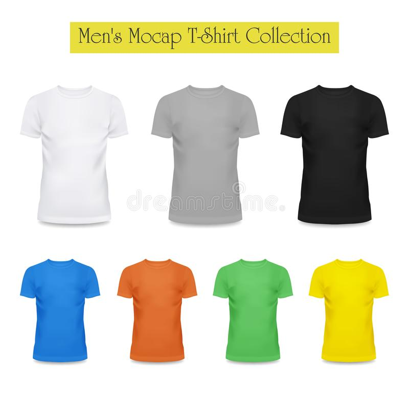 3d in bianco e nero, maglietta grigia Modo dell'abbigliamento illustrazione vettoriale