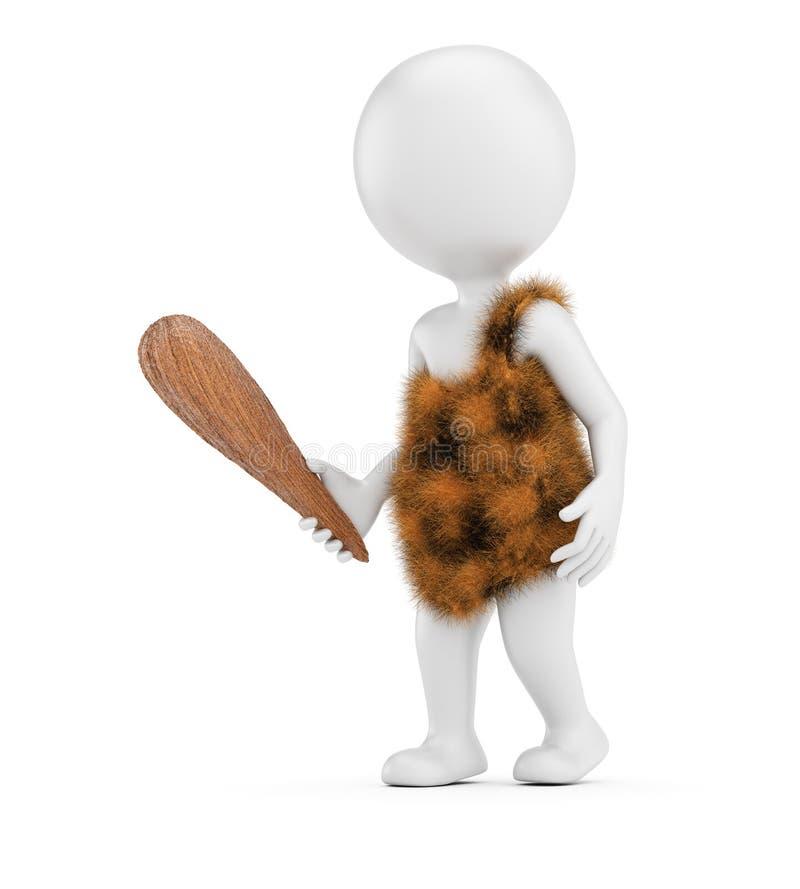 3D bielu caveman ilustracji
