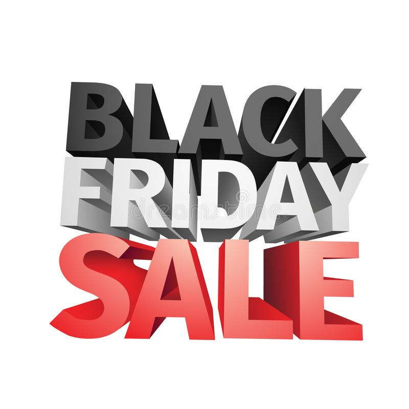 3D big friday sale text isolated on white background . Vector illustration . vector illustration