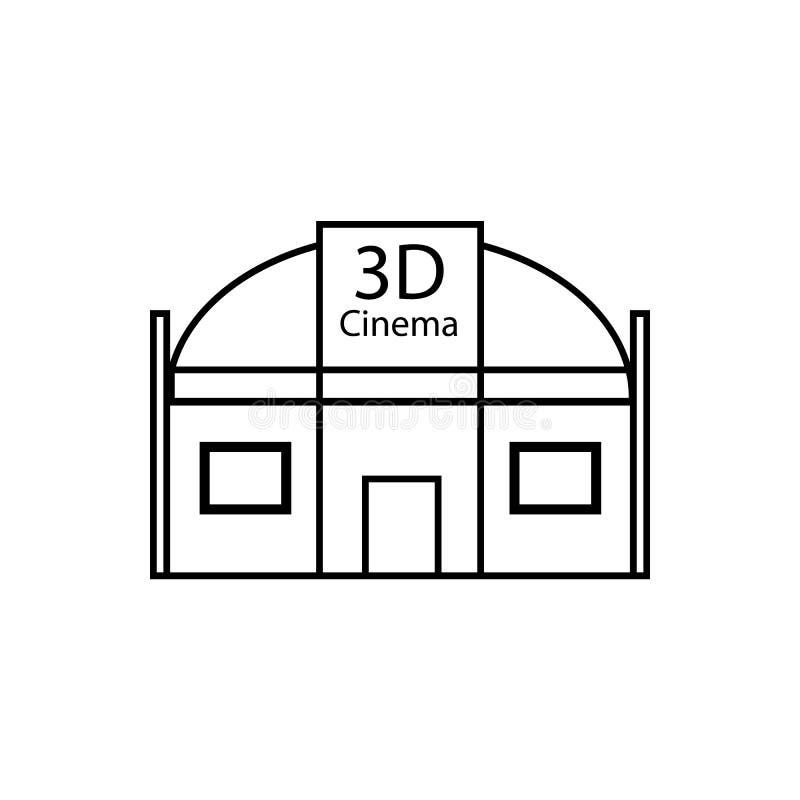 3d bioskoopclub Illustratie vectorpictogram royalty-vrije illustratie