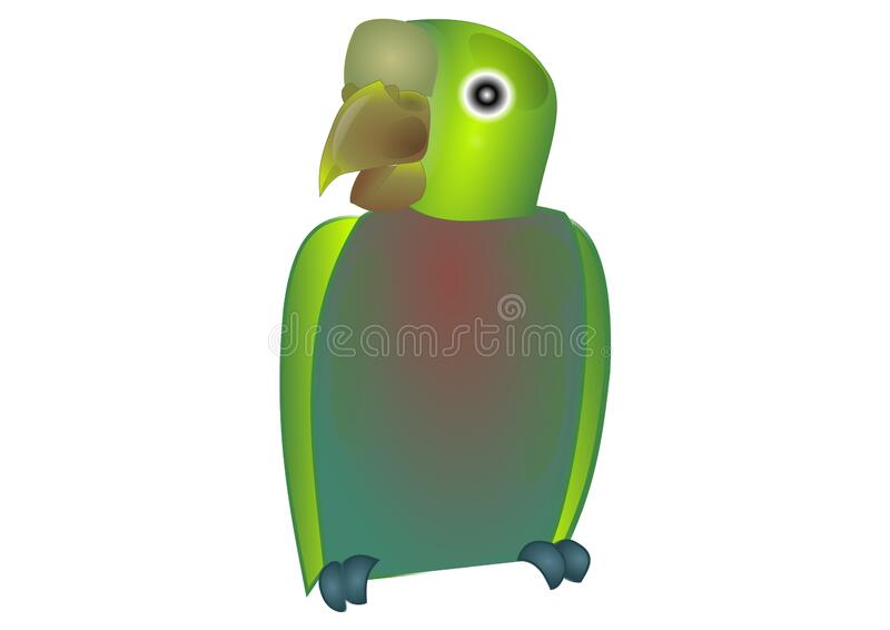 3D of bird with a white background. Drawing of bird with a white background illustration stock illustration