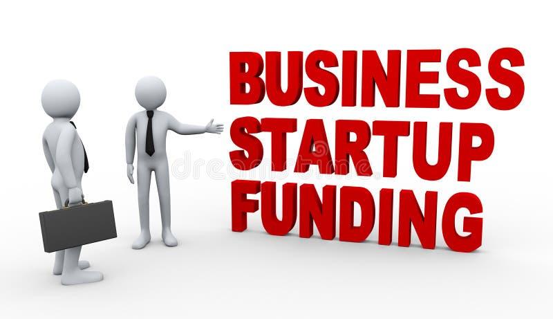 3d biznesmena początkowy finansowanie ilustracja wektor