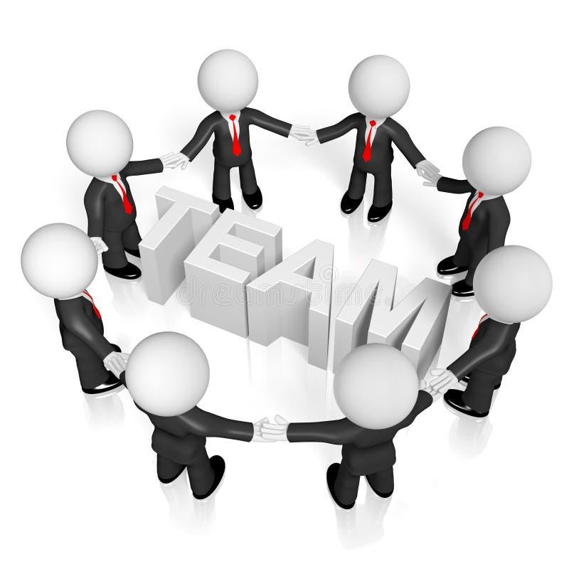 3D biznesmeni, teamwork/współpracy pojęcie royalty ilustracja