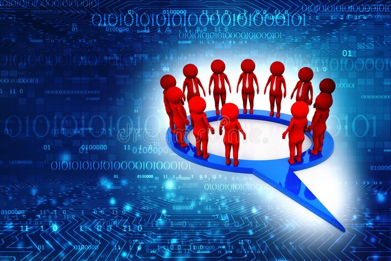 3d biznesowego pojęcia odosobniony sieci biel świadczenia 3 d ilustracji