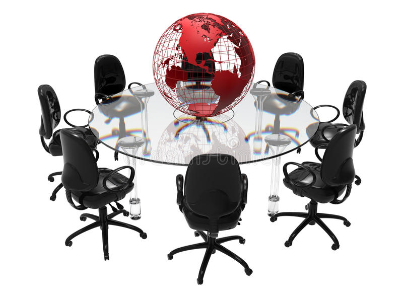3d biznesowy pojęcie odizolowywający spotkanie odpłaca się biel royalty ilustracja