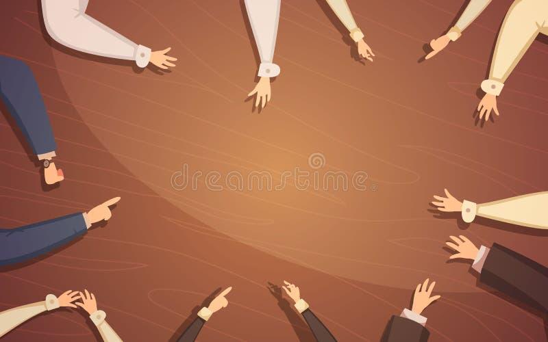 3d biznesowy pojęcie odizolowywający spotkanie odpłaca się biel ilustracji