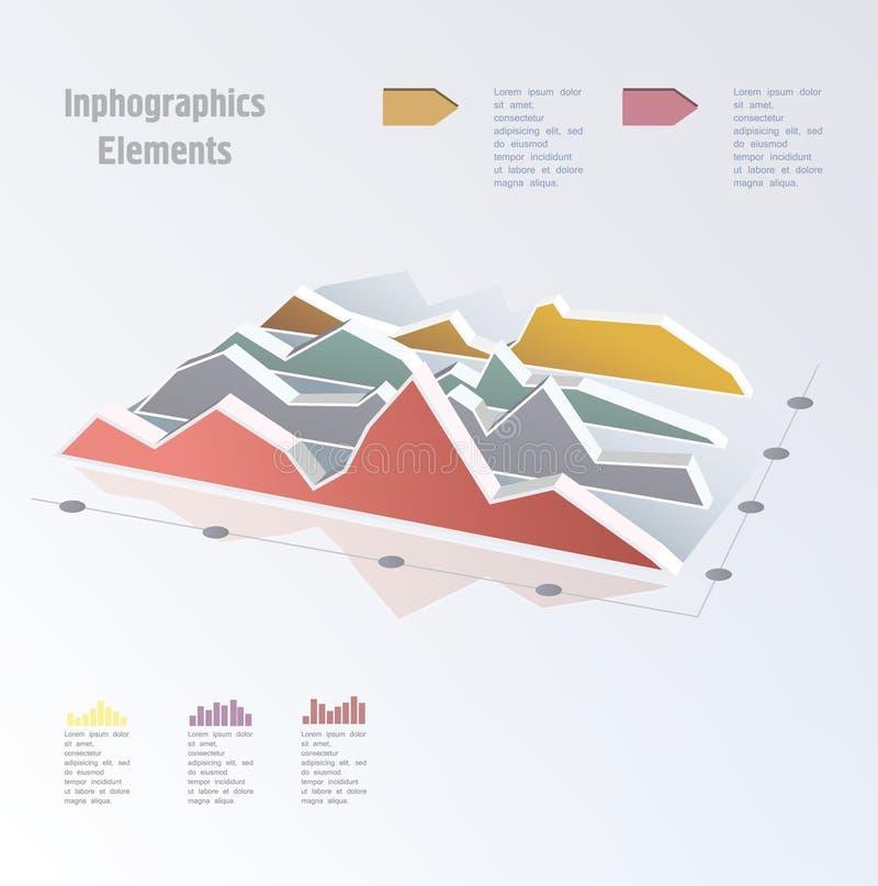 Biznesowy wykres na białym tle ilustracji